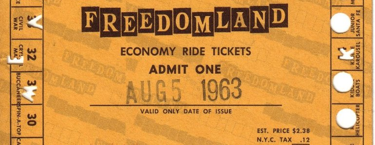 Freedomland U.S.A. Ticket