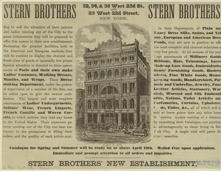 History of Stern's Department Stores
