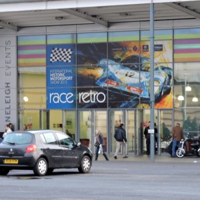 The front door of hall 3 at Race Retro