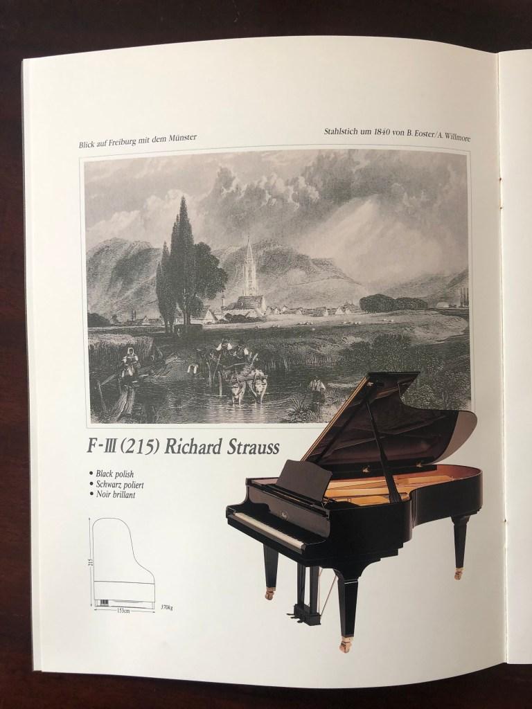 Flügel Ibach F III Richard Strauss