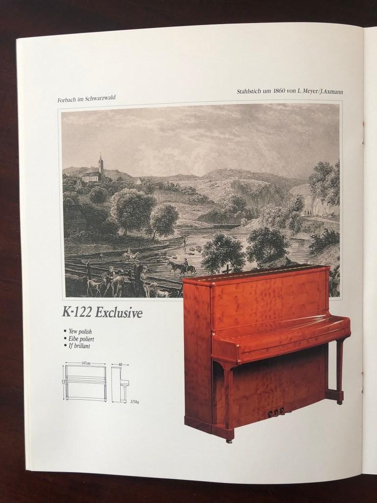 Klavier Ibach K 122