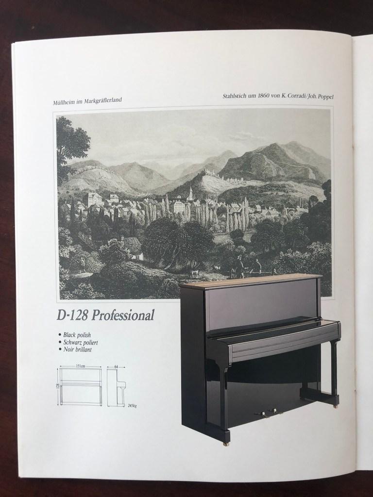 Klavier Ibach D 128