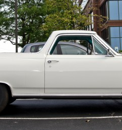 this classic 1965 chevrolet el camino was found in iown towing a race car  [ 2400 x 960 Pixel ]