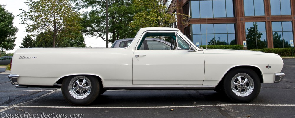 medium resolution of this classic 1965 chevrolet el camino was found in iown towing a race car