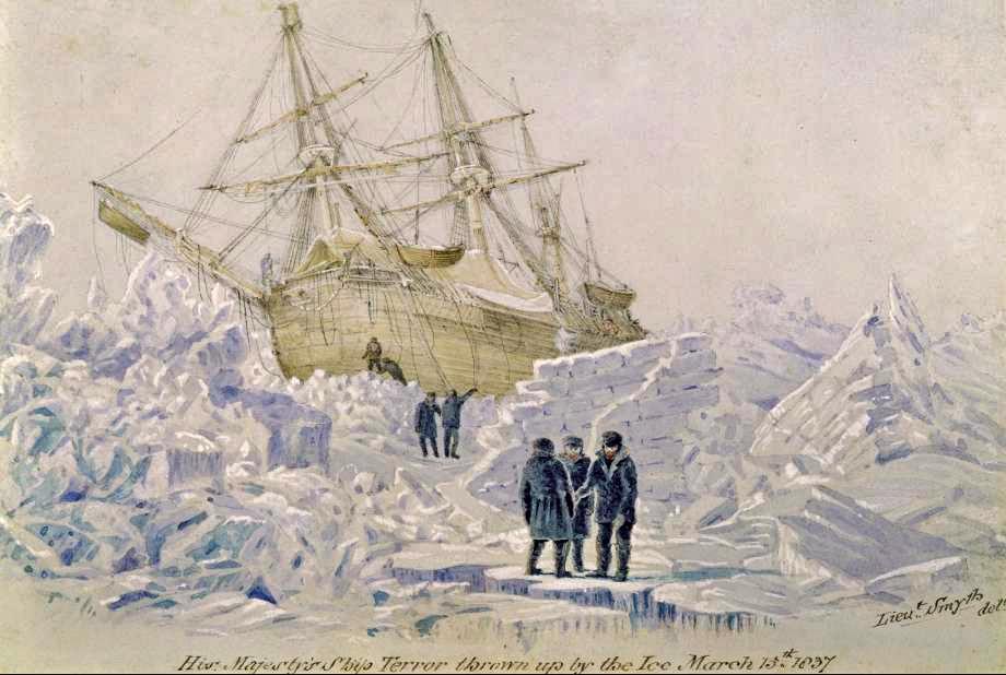 HMS Terror Ice Lt Wm Smyth 1837