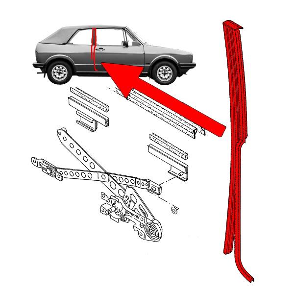 155847330C Uszczelka Słupka-B Prawa VW Golf 1 Cabrio