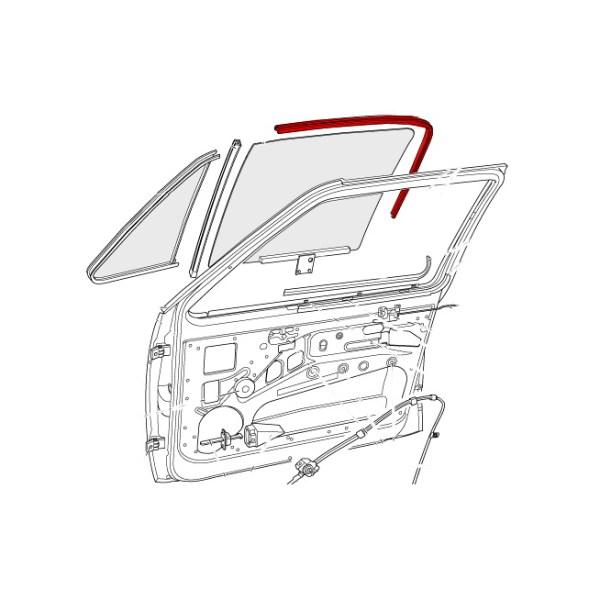 171837439D Uszczelka Prowadnicy Szyby VW Golf 1, Jetta 1