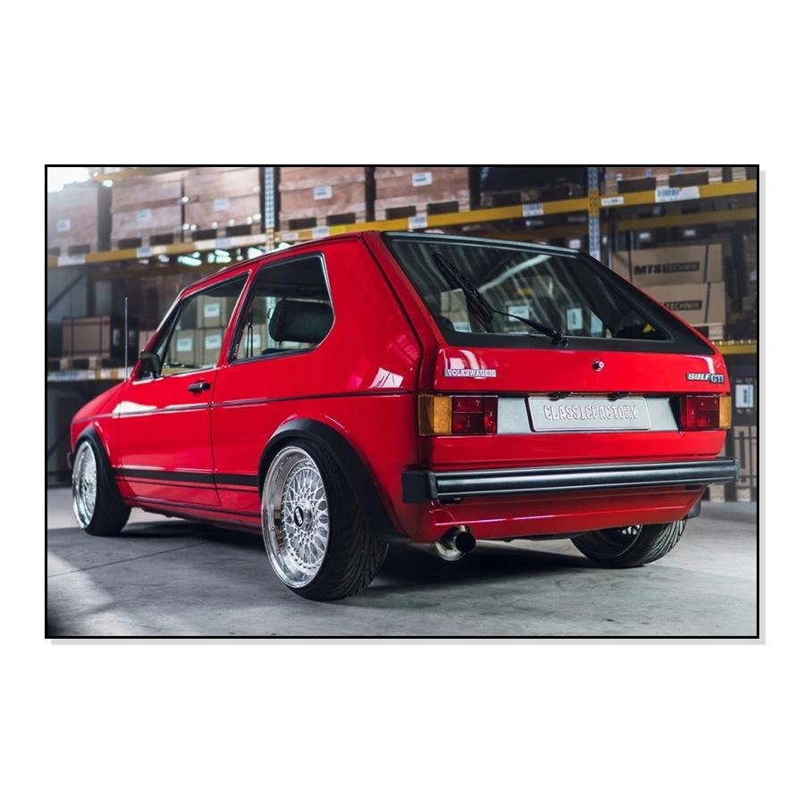171898113B Listwy Boczne Czarne (3-Drzwiowe) VW Golf 1 / Cabrio