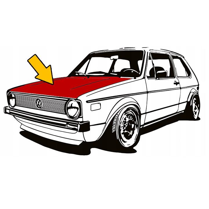 171800003 Maska Silnika VW Golf 1 / Cabrio