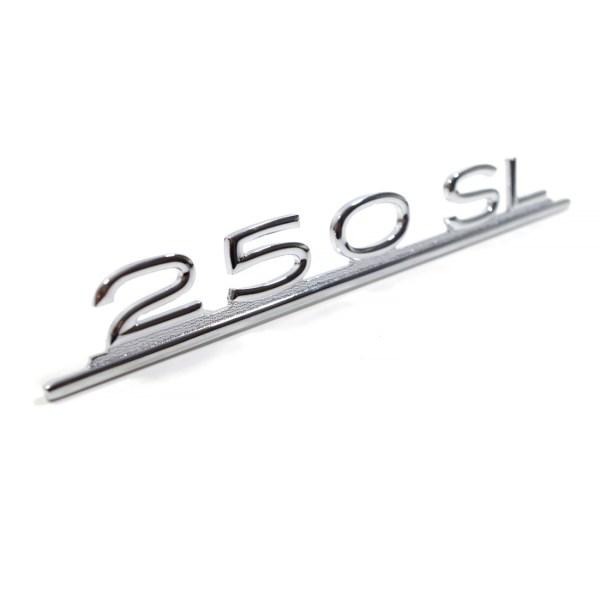 """1138170215 Emblemat """"250 SL"""" (Chrom) Mercedes W113 Pagoda"""