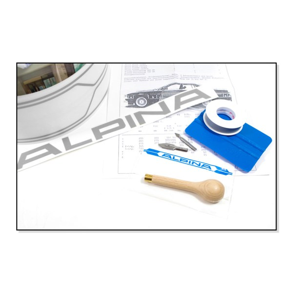 ALPINA4100235 Dekory Dokładki ALPINA (Srebrne) BMW E24, E28, E30, E34