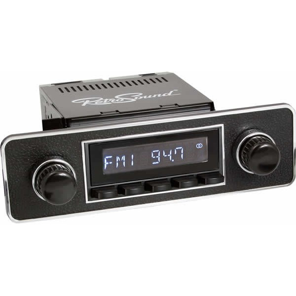 Radio RetroSound HR Black Euro + Bluetooth