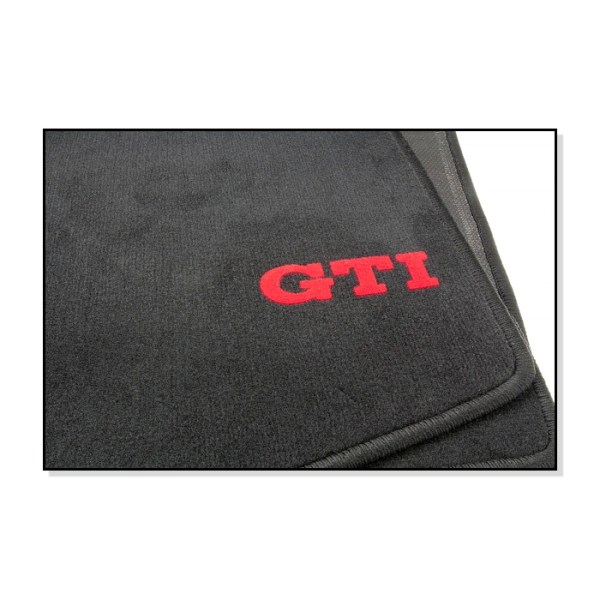 Dywaniki GTI Czarne (Komplet) VW Golf 1
