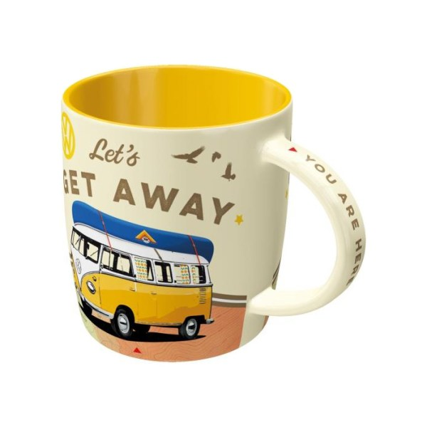 "Kubek Ceramiczny ""Let's Get Away"" VW Bulli"