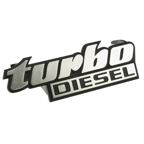 """191853679B Emblemat """"Turbo Diesel"""" W Grill VW Golf 2, Jetta 2"""