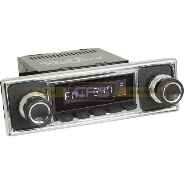 Radio RetroSound HR Black Pebble + Bluetooth