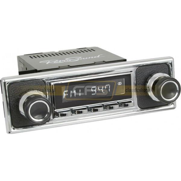 Radio RetroSound HR Chrom Pebble + Bluetooth