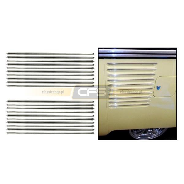 Listwy Wlotu Powietrza Do Silnika (Chrom) VW Bus T1 (63-67)