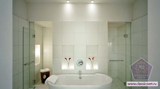 Общие азы по освещению ванной комнате