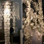 Люстры и светильники из необычных материалов