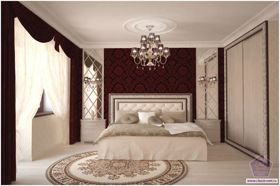 Дизайн интерьер спальной комнаты 02