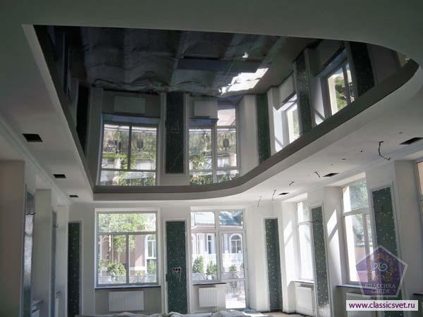 зеркальные подвесные потолки 02