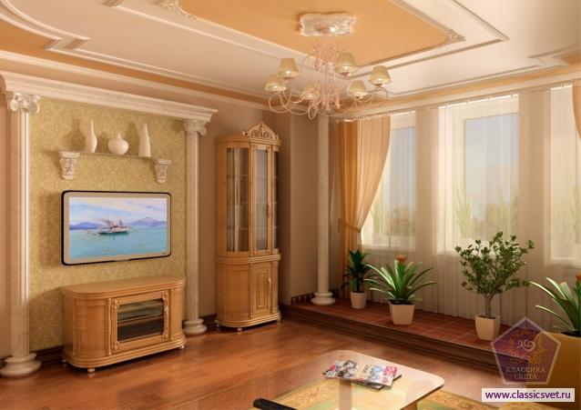 Декоративное обрамление потолка