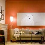 Оранжевый цвет в доме с освещением – энергия и настроение