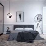 Современный дизайн спальной комнаты с освещением
