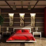 Японский стиль в интерьере с освещением
