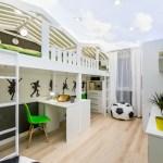Комната для ребенка на чердаке с освещением