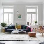 Скандинавский стиль удобство легкость и яркие цвета в интерьерах со светом