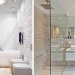 Ванная комната с настенной росписью при свете