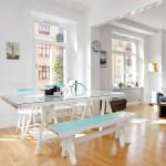 Белый и синий фарфор и керамика для скандинавских интерьеров с светом
