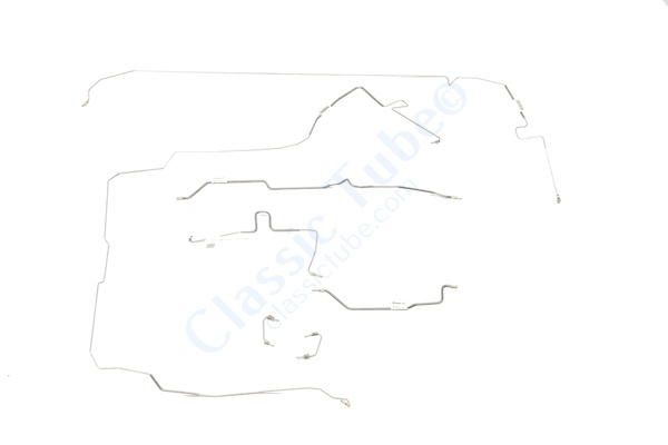 Jeep Wrangler Brake Line Kit Without ABS - With Rear Drum - Dana 44 Axle (7  Pc ) -1997,1998,1999,2000,2001,2002,2003,2004,2005,2006 - Classic Tube