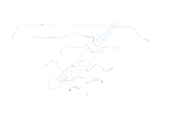 Ford Mustang Brake Line Kit (8pcs)  Power Drum - Early (Built Before Feb. 1967)