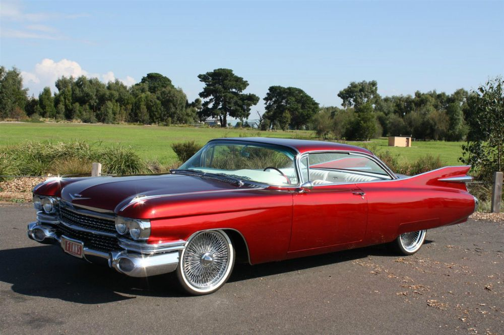medium resolution of 1959 cadillac series 62 coupe deville candy red custom built show car 390cbi v8 10 1959