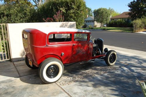 small resolution of restored vintage 1930 ford model a sedan hot rod 30 w 32 dash no reserve