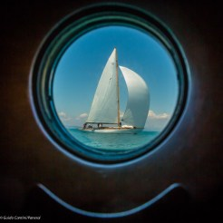Cholita seen from the port hole of Cambria, Argentario Sailing Week, 2014 Ph: Guido Cantini / seasee.com