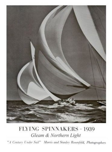 12-Metre yachts Gleam and Northern Light captured in 1939. Part of the Rosenfield Collection.
