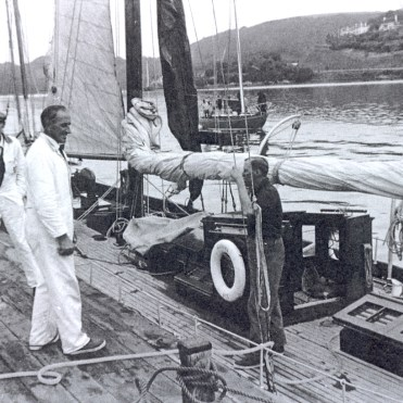 Varuna lying alongside Sandquay, 1955