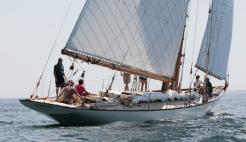 Spartan under sail