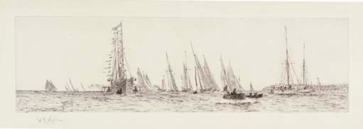 Cowes, with the Royal Yacht 'Victoria and Albert'
