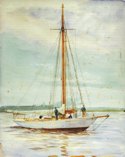 Study of a yacht