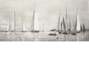 Yacht Racing at Cowes