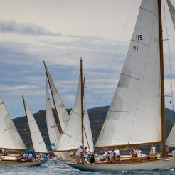 Argentario sailing Week 2016 Stormy Weather, Skylark and Manitou in the background