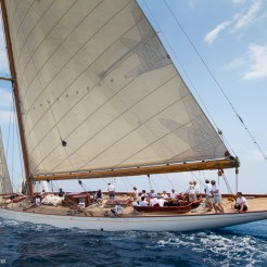 Antibes, France, 5 June 2016, Panerai Classic Yacht Challenge 2016, Voiles D'Antibes 2016, Cambria Ph: Guido Cantini / Panerai / SeaSee.com