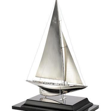 Silver model of Miquette by Benzie of Cowes