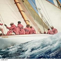 Christophe Sorenti - The 15-Metre Tuiga chasing Mariska at Les Voiles de St Tropez
