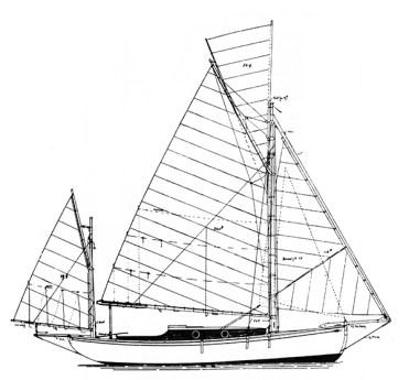 Charmina Sail-plan
